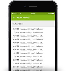 home alarm systems log