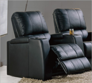 mangolia black home cinema seat